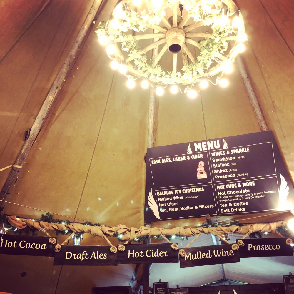 thors tipi at Christmas - The Complete Guide to York at Christmas